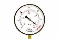 gaugekontorsspänning Arkivfoton