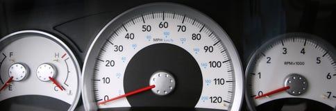 Gauges. Fuel, Gas, Temperature, Speedometer, and tachometer gauges Stock Image