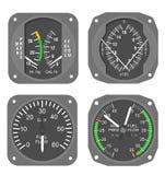 gauges för 1 flygplan royaltyfria bilder