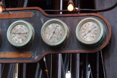 Gauges. On a Holly Steam Pumping Engine. At the Colonel Francis J. Ward Pumping Station Stock Photo