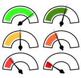 Gauges, meters. Set, vector template Stock Images