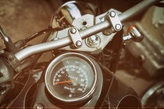 Gauges of old classic motorcycle Stock Photography