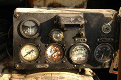 Gauges on an old engine Royalty Free Stock Photo