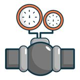 Gauges on pipeline icon, cartoon style Royalty Free Stock Photography