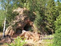 Gauja park narodowy (Latvia) Zdjęcia Royalty Free