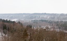 Gauja River Valley in Sigulda, Latvia. The view across the Gauja River Valley in Sigulda, Latvia. Sigulda is a part of the Gauja National Park Stock Photos