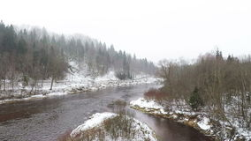 Gauja River stock video footage