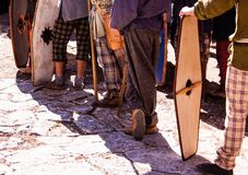 The gaulish people in France La Turbie stock photography