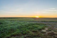 Gaume大草原的看法在日出的 库存照片