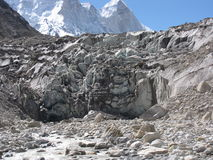 Gaumukh glacier source of bhagirathi Stock Images