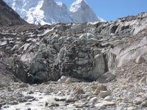 Gaumukh glacier source of bhagirathi stock images