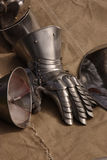 Gauntlet. Knights gauntlet awaits fitting Royalty Free Stock Photography