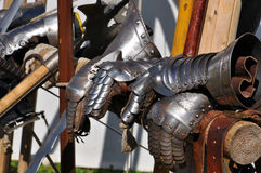 Gauntlets. Some medieval gauntlets, or replica thereof royalty free stock photography