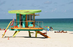 Gaurd hut. Miami life guard station Stock Photography