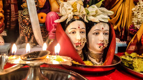 Gauri Pooja. An Indian festival, where the Hindu Goddesses are worshiped Stock Photography
