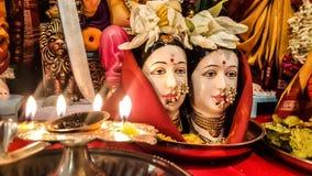 Gauri Pooja Stock Photography
