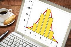 Gaussian, bell or normal distribution stock photo