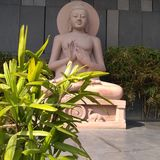 Gautam Buddha statue at Buddha Smriti Park, Patna royalty free stock photo