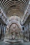 Gautam Budha, Ellora Caves, Índia Imagem de Stock Royalty Free