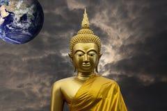 Gautama Buddha sculpture. Gautama Buddha also known as Siddhārtha Gautama or Shakyamuni Buddha or simply the Buddha, after the title of Buddha, was an ascetic stock image