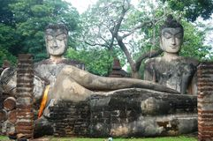 Kamphaeng Phet Historical Park Arunyik area, Buddha of thailand Royalty Free Stock Photography