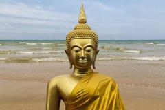 Gautama Buddha skulptur Arkivfoto
