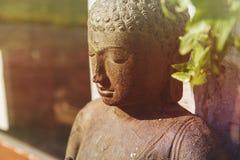 Gautama buddha stone statue stock images