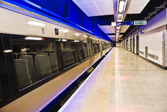 Gautrain - 1st High Speed Rail, for Africa. The Gautrain - High Speed Commuter Rail. The first part of the system, between Sandton and OR Tambo Airport, opened royalty free stock image