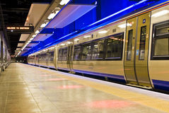 Gautrain - 1st High Speed Rail, for Africa. The Gautrain - High Speed Commuter Rail. Built by the Bombela Consortium, includes Montreal-based Bombardier Inc royalty free stock photos
