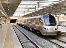 Gautrain - comboio da periferia de alta velocidade Foto de Stock