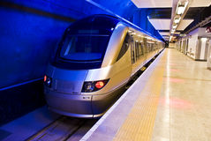 Gautrain - High Speed Train Travel in Africa. The Gautrain - High Speed Commuter Rail. Operating both as an underground and above ground railway system, in the stock image