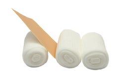 Gauze bandages and sticking plaster Stock Photography