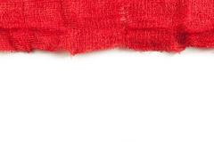 Gauze with blood. On white background Royalty Free Stock Images