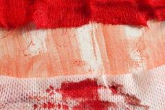 Gauze with blood. On white background Royalty Free Stock Image