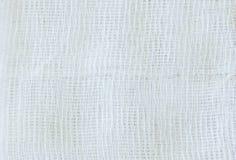 Gauze Pad. White gauze texture close up photo as background Royalty Free Stock Image