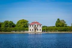 Gauze (palace, Peterhof). Gauze — the tiny pavilion palace in the western part of Nizhny Novgorod of park of palace and park ensemble Peterhof Royalty Free Stock Photography
