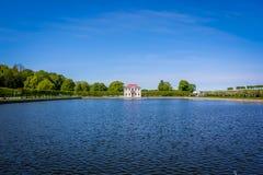 Gauze (palace, Peterhof). Gauze — the tiny pavilion palace in the western part of Nizhny Novgorod of park of palace and park ensemble Peterhof Royalty Free Stock Images