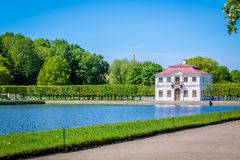 Gauze (palace, Peterhof). Gauze — the tiny pavilion palace in the western part of Nizhny Novgorod of park of palace and park ensemble Peterhof Stock Image