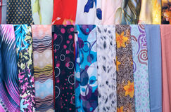Gauze scarf. The background of colored gauze scarf Stock Images