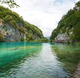 Gavanovac lake among two white rocks Stock Photography