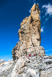 Gavarnie,France-August 6,2014: Roland Gap, Cirque de Gavarnie in Stock Photo
