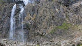 Gavarnie vattenfall - detalj, ultrarapid arkivfilmer