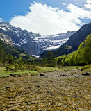 Gave de Gavarnie river flows from Gavarnie Circus Stock Image