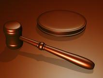 gavel δικαστηρίων ξύλινο Στοκ Εικόνα