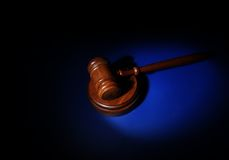 Gavel μπλε Στοκ φωτογραφία με δικαίωμα ελεύθερης χρήσης