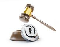 Gavel τρισδιάστατες απεικονίσεις ηλεκτρονικού ταχυδρομείου spam ελεύθερη απεικόνιση δικαιώματος
