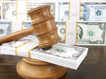 gavel долларов аукциона Стоковая Фотография RF
