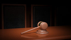 Gavel δικαστηρίου Στοκ Εικόνες