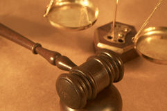 Gavel. And sound block close up, shallow dof Royalty Free Stock Photos