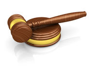 Gavel. On the white background 3d render Stock Photography